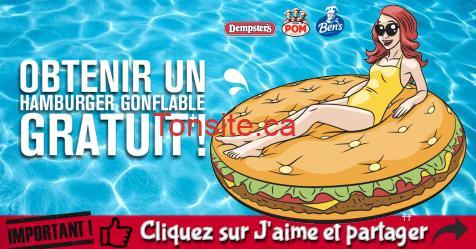 hamburger gonflable gratuit - Obtenez un Hamburger gonflable gratuit (valeur de 35$)