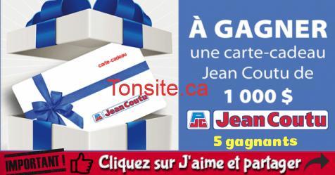 jean coutu concours6 - 5 cartes-cadeaux Jean Coutu de 1,000$ chacune à gagner