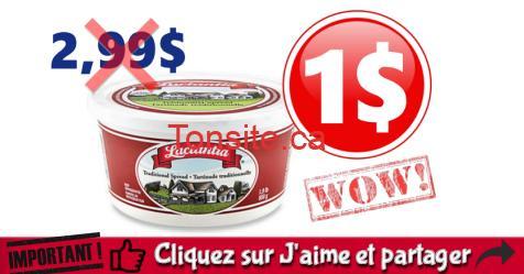 lactantia 1 off - Tartinade Lactantia à 1$ au lieu de 2.99$