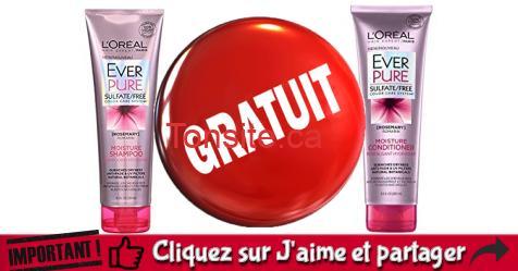 loreal everpure echantillon - GRATUIT: Obtenez un échantillon gratuit de EverPure Moisture de L'Oréal Paris