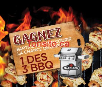 napoleon concours1 - Gagnez 1 des 3 Barbecues au Gaz Napoléon de 1000$