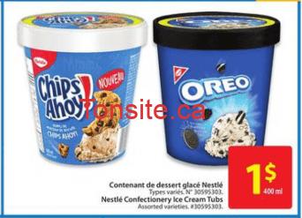 nestle creme glacee 1 - Crème glacée Nestlé à 1$ (sans coupon)