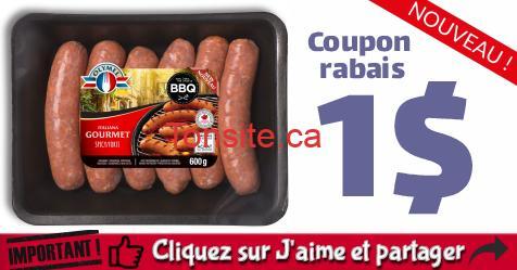 olymel coupon5 - Coupon rabais de 1$ Sur tous les produits de saucisses fraîches OLYMEL (600 g ou plus)