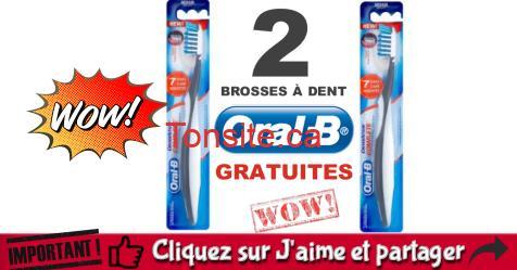 oral b gratuit - Obtenez 2 brosses à dents manuelles Oral-B GRATUITEMENT!