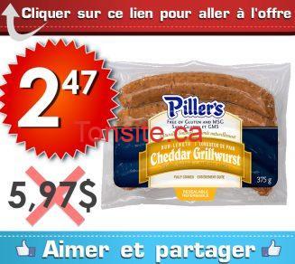 pillers 247 597 - Saucisses Piller's à 2,47$ au lieu de 5,97$
