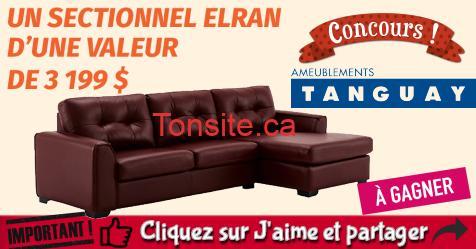tanguay concours14 - Concours Ameublements Tanguay: Gagnez un sectionnel d'une valeur de 3199$