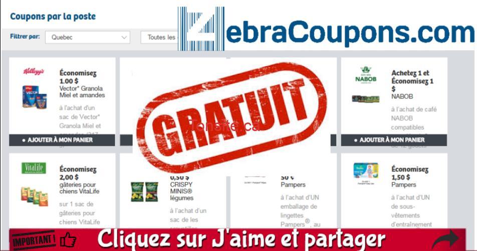 zebra off - Recevez GRATUITEMENT une enveloppe de 50 coupons rabais ZebraCoupons
