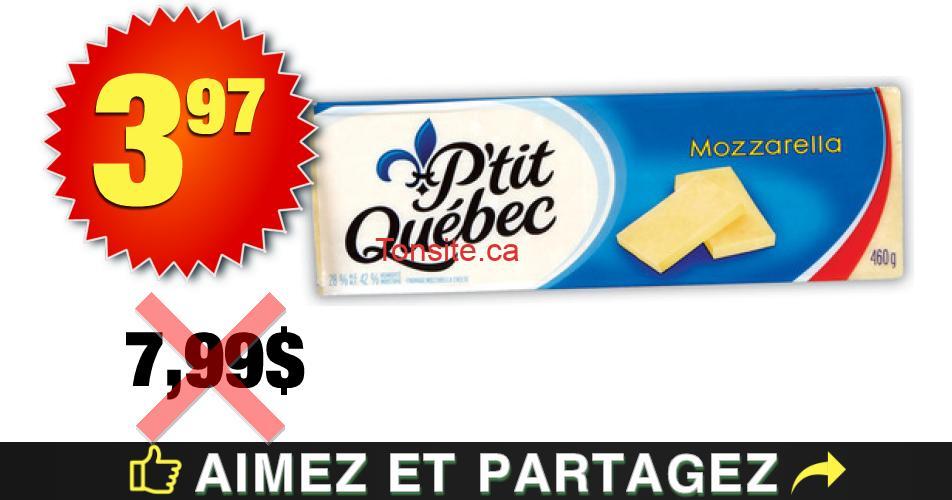 PTITQC 397 OFF - Barre de fromage P'tit Québec à 3,97$ au lieu de 7,99$