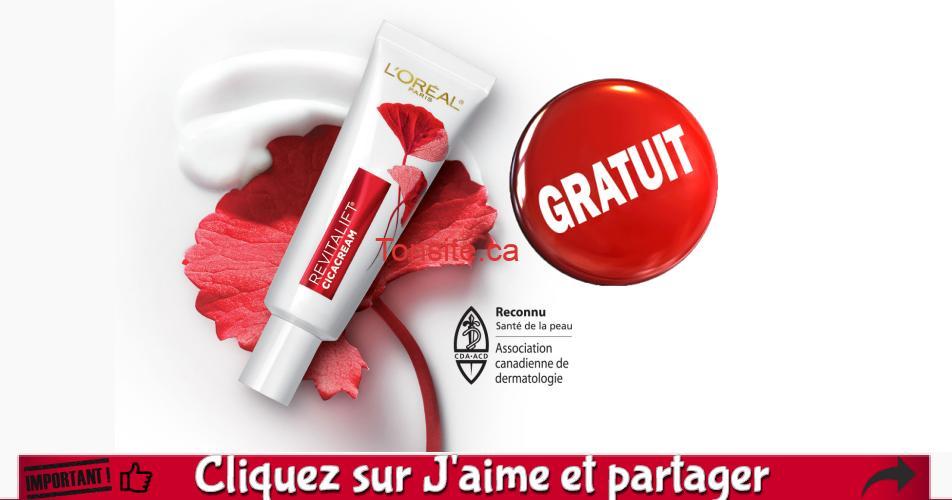 cicacream echantillon - GRATUIT: Obtenez un échantillon gratuit d'une crème réparatrice + anti-âge Revitalift Cicacream de L'Oréal Paris