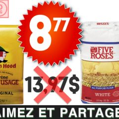 five roses robin hood 877 1397 1 240x240 - Farine tout usage Five Roses ou Robin Hood (10 kg) à 8,77$ au lieu de 13,97$