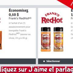 franks redhot coupons 240x240 - Coupons rabais sur les assaisonnements Frank's RedHot