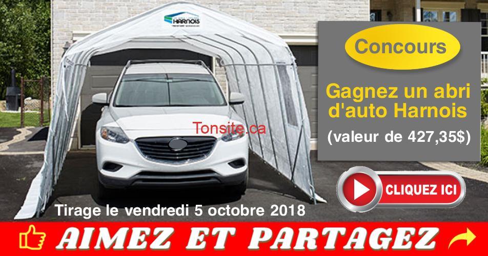 harnois abri auto concours - Participez pour gagner un abri d'auto Harnois (valeur de 427,35$)