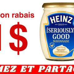 heinz seirously good coupon 240x240 - Coupon rabais de 1$ sur un pot de Mayonnaise Heinz [Seriously] Good (675 ml ou 800 ml)