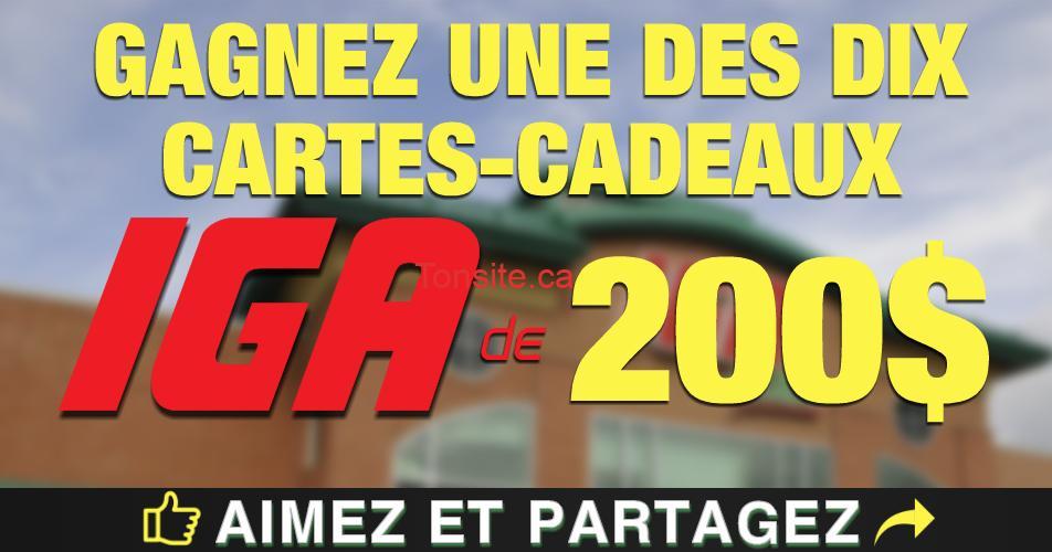iga concours200 - Gagnez 1 des 10 cartes-cadeaux IGA de 200$
