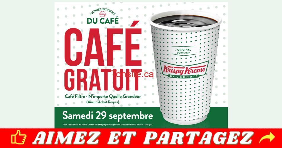 krispy cafe gratuit - Krispy Kreme: Obtenez un café gratuit le samedi 29 septembre