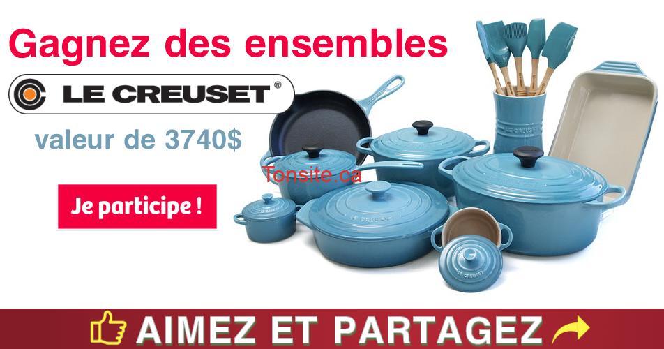 lecreuset concours2 - Gagnez plusieurs produits Le Creuset (valeur de 3740$)