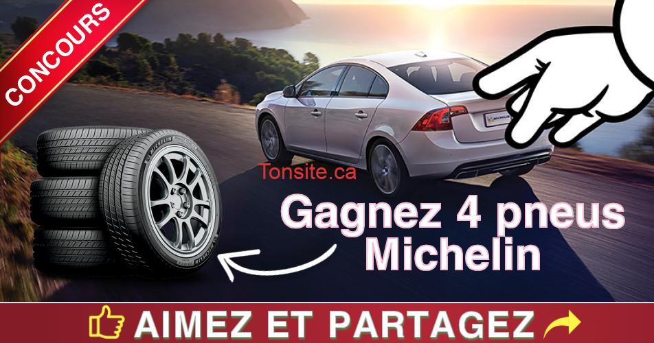 michelin concours - Concours Michelin: Gagnez 4 pneus Michelin (valeur de 1400$)
