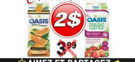 Jus d'orange réfrigéré Oasis Collection Nature (1,65 L – 1.7 L) à 2$ au lieu de 3,99$