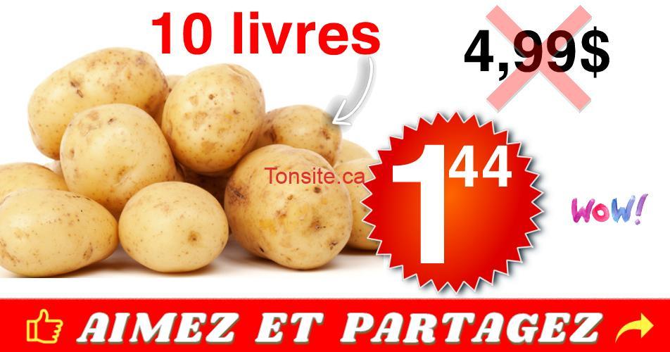pommes de terre 144 499 - Sac de pommes de terre (10 livres) à 1,44$ seulement!