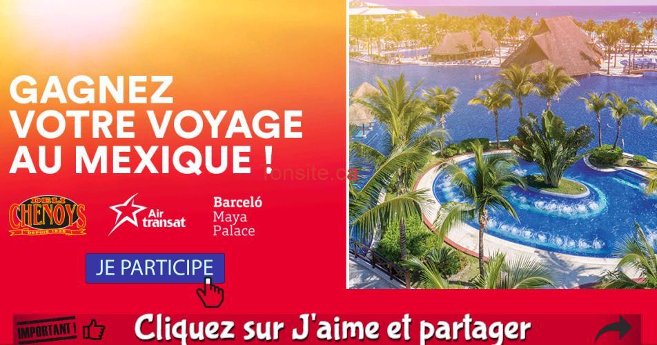 rouge deli concours - Gagnez 1 voyage pour 2 en formule tout-inclus d'une semaine pour 2 personnes à Cancun au Mexique!