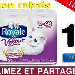 royale velour mega coupon 240x240 - Coupon rabais de 1$ sur tout emballage de 6 rouleaux ou plus de Royale Velour Mega Plus