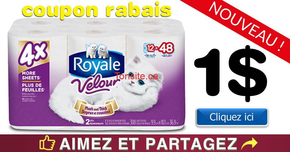 royale velour mega coupon - Coupon rabais de 1$ sur tout emballage de 6 rouleaux ou plus de Royale Velour Mega Plus