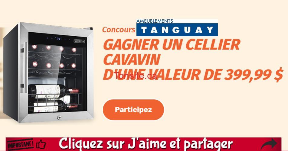 tanguay concours15.png - Concours Ameublements Tanguay: Gagnez un cellier Cavavin 15 bouteilles (valeur de 399$)