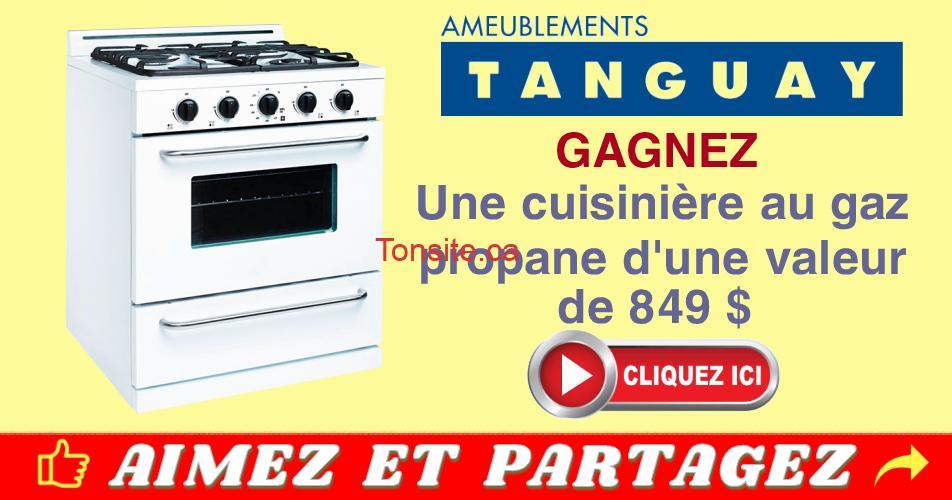 tanguay concours16 - Concours Ameublements Tanguay: Gagnez une cuisinière au gaz de marque Unique (valeur de 849$)