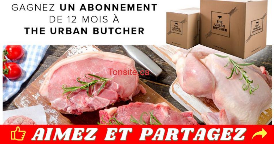 urban butcher concours - Gagnez 1 an de viande livrée à domicile par The Urban Butcher!