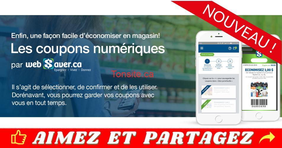 websaver numerique - Les nouveaux coupons numériques Websaver, maintenant disponibles!
