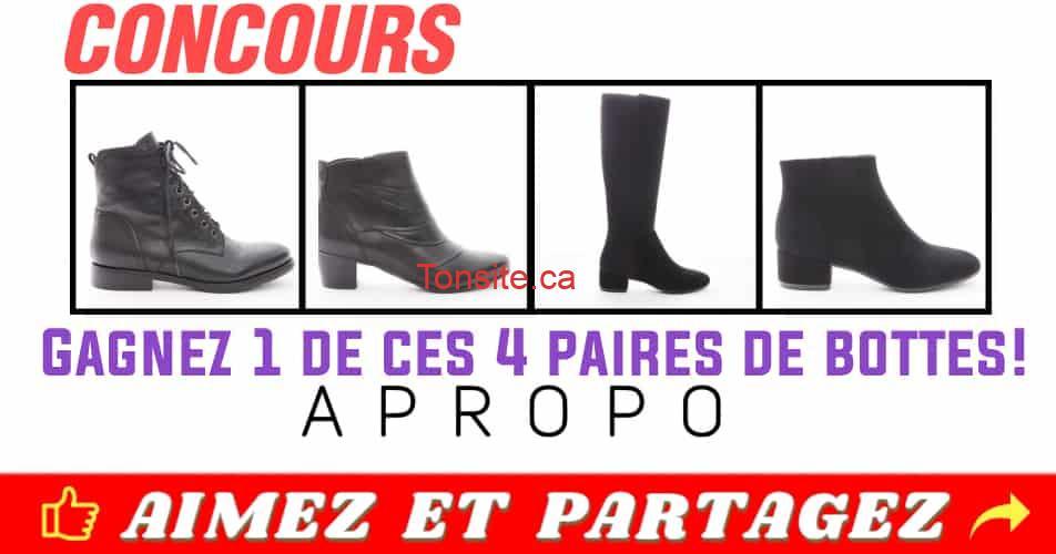apropo concours1 - Gagnez une paire de bottes APROPO (collection automne-hiver 2018)