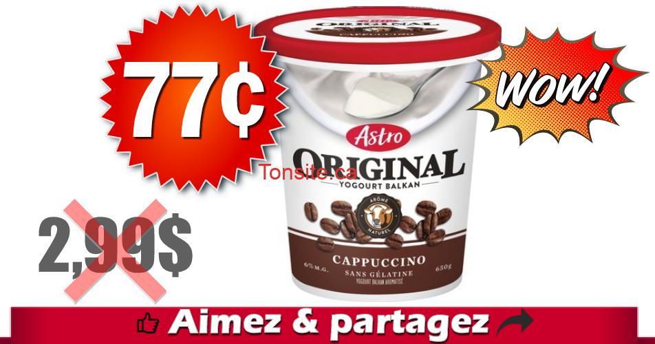 astro 77 299 - Yogourt Astro Original à 77¢ au lieu de 2,99$