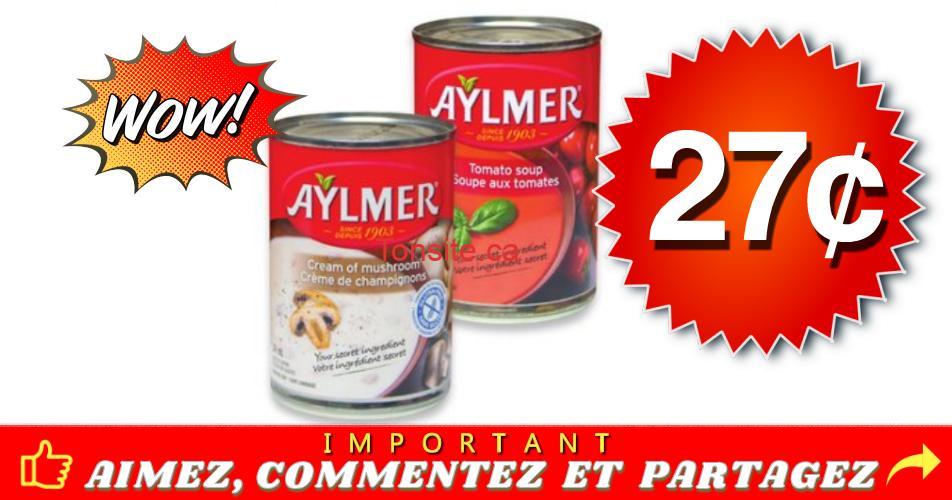 aylmer 27 - Soupe Aylmer à 27¢ seulement!