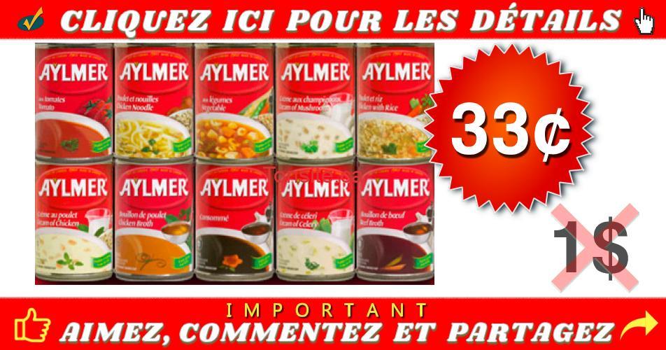 aylmer 33 officiel - Soupe Aylmer à 33¢ seulement!