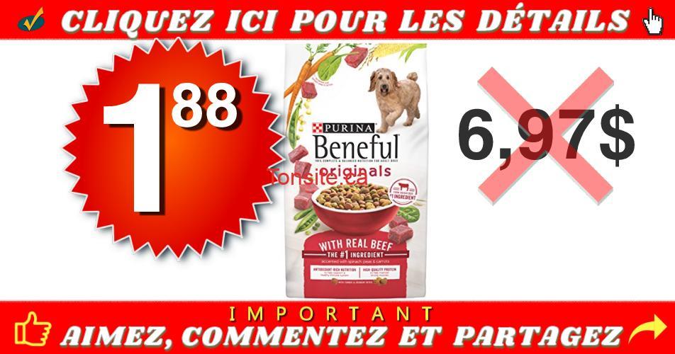 beneful 188 697 - Nourriture sèche pour chiens Beneful à 1,88$ au lieu de 6,97$