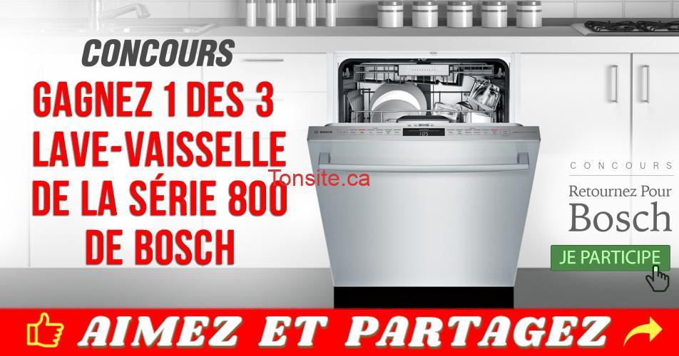 bosch concours10 - Gagnez 1 des 3 lave-vaisselle de la série 800 de Bosch