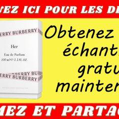 burberry echantillon 240x240 - Obtenez un échantillon gratuit d'eau de parfum Burberry Her