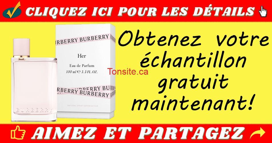 burberry echantillon - Obtenez un échantillon gratuit d'eau de parfum Burberry Her