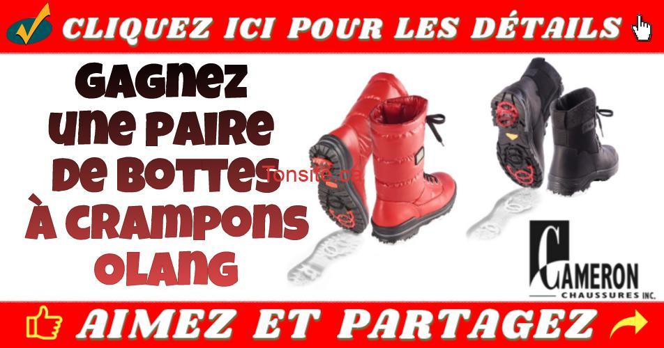cameron concours - Gagnez une paire de bottes à crampons Olang