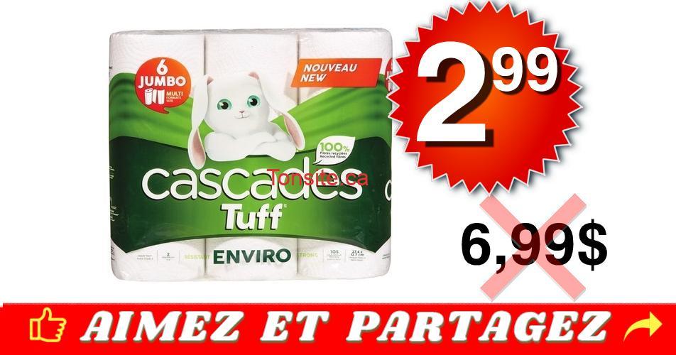 cascades tuff 299 699 off - Emballage de 6 rouleaux Jumbo de papier essuie-tout Cascades Tuff à 2,99$ au lieu de 6.99$