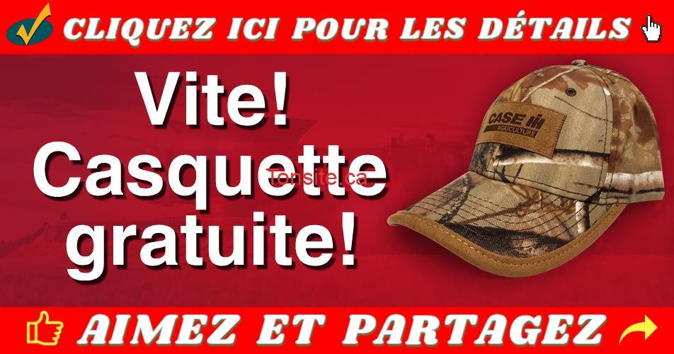 casquette gratuite - Obtenez une casquette Case IH GRATUITE!