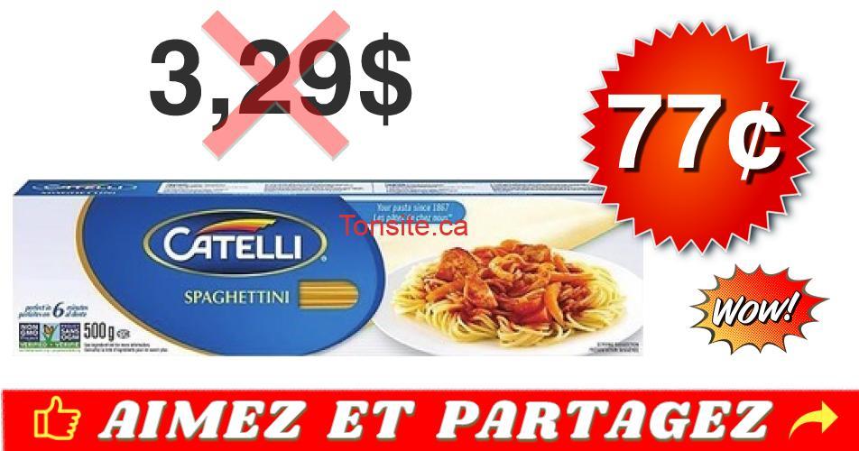 catelli 77 329 - Pâtes alimentaire Catelli à 77¢ au lieu de 3,29$