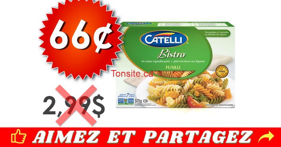 catelli bistro 66 299 off - Pâtes alimentaires Catelli Bistro à 66¢ au lieu de 2.99$