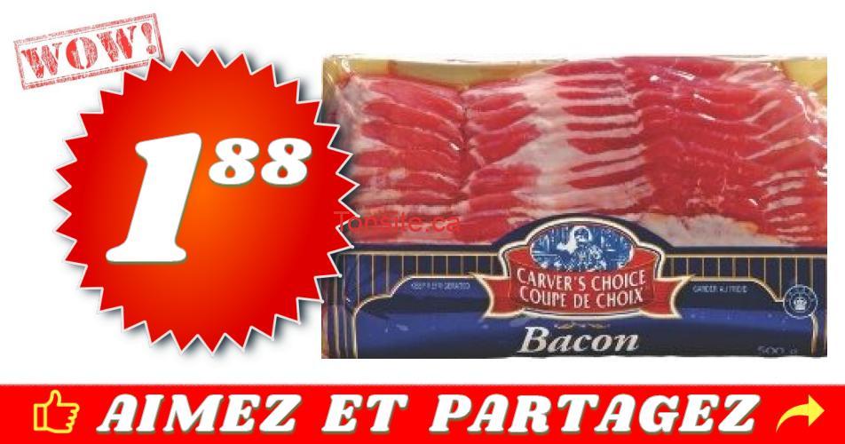 coupe de choix bacon 188 - Bacon Coupe de Choix (375g) à 1,88$ au lieu de 3,99$
