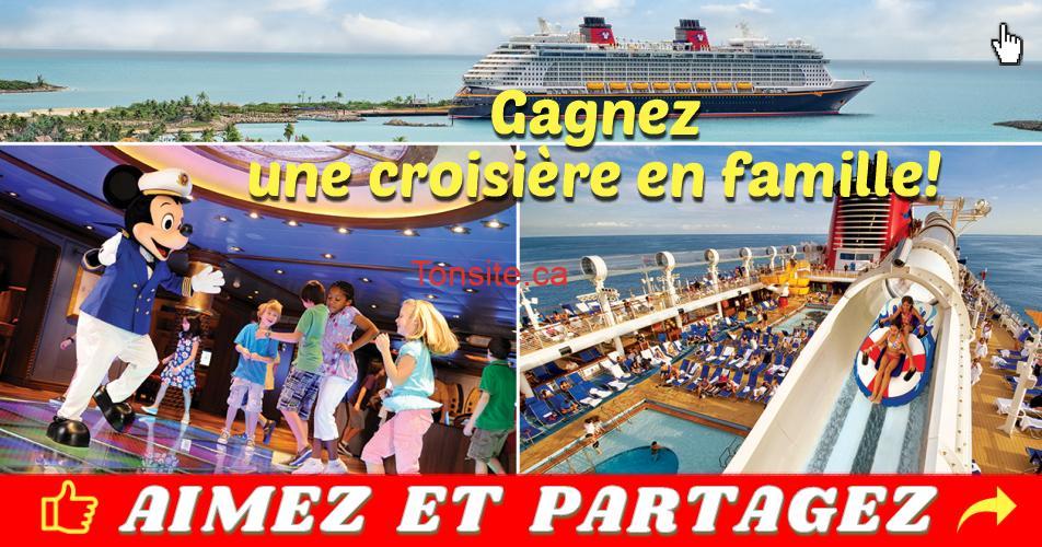 croisiere famille concours - Gagnez un forfait vacances de 4 nuits à bord d'une croisière de la Disney Cruise Line dans les Bahamas pour 4 personnes