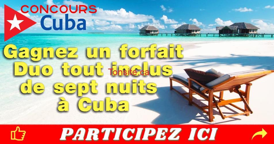 cuba concours4 - Gagnez un forfait Duo tout inclus de sept nuits à Cuba, dont trois nuits à La Havane et quatre nuits à Varadero