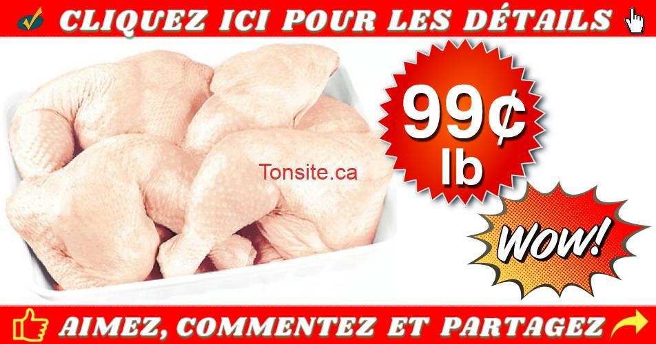 cuisses poulet 99 - Cuisses de poulet frais avec dos à 99¢ la livre seulement!