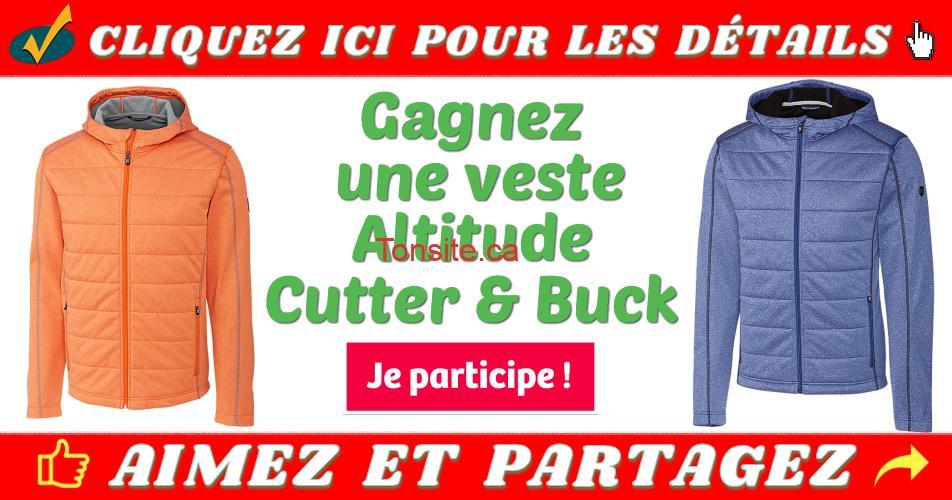 cutter buck concours - Gagnez une veste d'automne Altitude Cutter & Buck