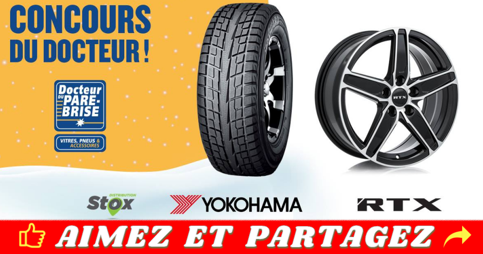 docteur pare prise concours - Gagnez un ensemble de mags RTX et de pneus d'hiver Yokohama d'une valeur totale de 1500$ (15 à 18 po.)