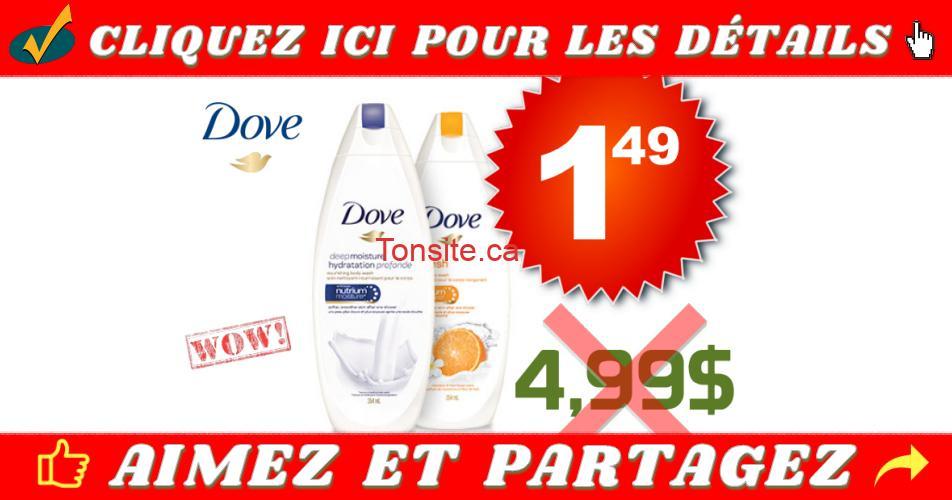 dove gel 149 499 off - Gel nettoyant Dove à 1,49$ au lieu de 4,99$